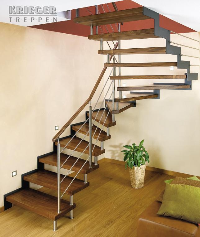 stahl holztreppen von krieger treppen. Black Bedroom Furniture Sets. Home Design Ideas